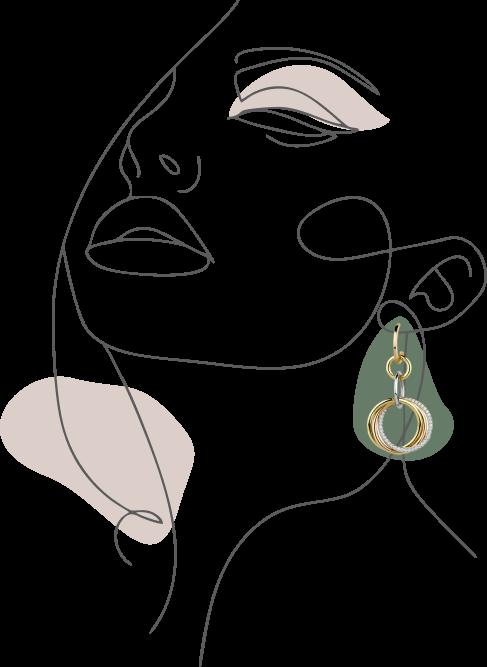 Девушка с украшением от IRIS GOLD